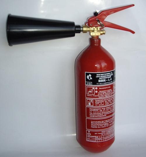 Огнетушитель углекислотный ОУ-2 (он же ВВК-1,4)