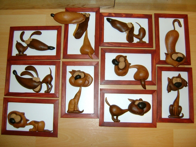 Картинки зверей из натурального дерева, ручной работы, Сувениры деревянные ручного изготовления
