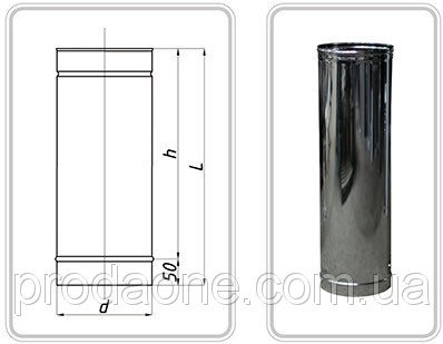 Buy PIPE from AISI stainless steel of 304 - 0,5 mm; L=1000 mm f100