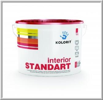 Купить Краска Колорит матовая Interior STANDART