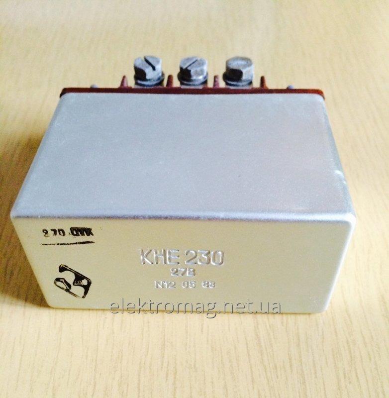 Контактор электромагнитный КНЕ230 27В КНЕ-230 27В