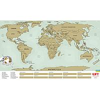 Купить Скретч карта мира UFT Scratch World Map на английском языке