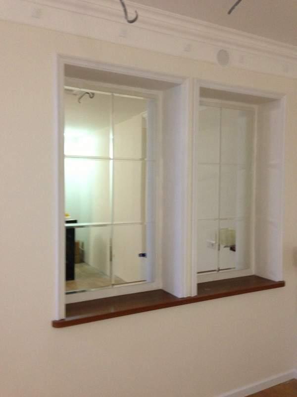 Псевдо-окно, из фацетированного зеркала