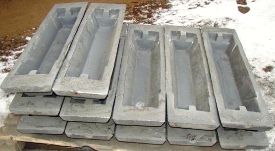 Изложницы чугунные для разливки металов