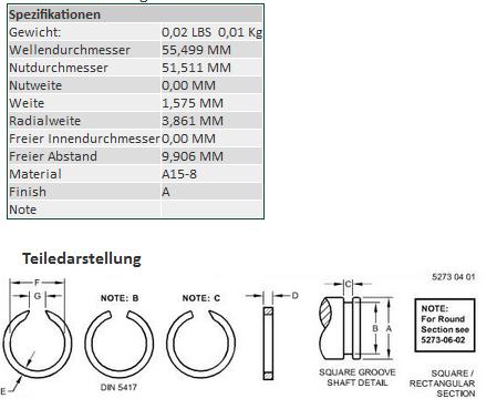 Buy Ring lock spring JD R39081 Ukraine