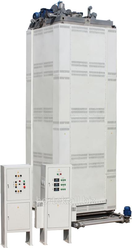 Промышленная печь для отпуска и закалки. Элеваторная электропечь СЭОА-11,5.11,5.45/6 И2 с вентилятором. Для  отпуска и закалки изделий из алюминия и его сплавов.