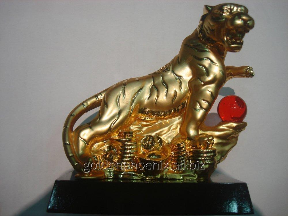 Статуэтка Тигр золотой 74923734