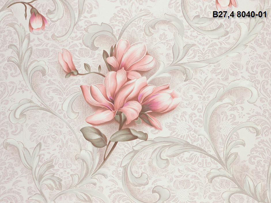 Купить Обои бумажные гофрированные Коллекция Kolorit В27,4 Мелиса 8040