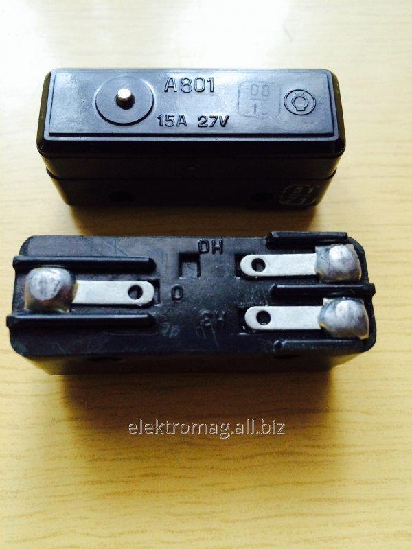 Микровыключатель А801