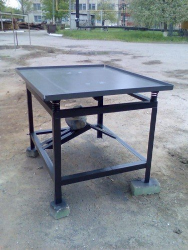 Купити Вибростол для виробництва тротуарної плитки й заборів 2,5м. х 1,25м.