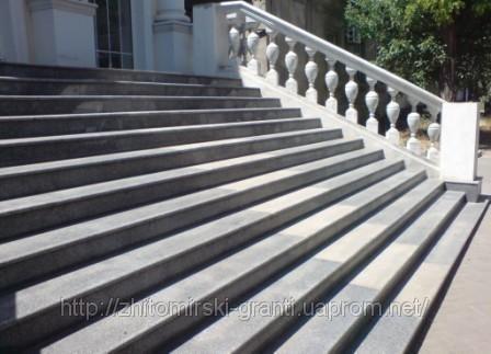 Купить Гранитные ступени, лестницы, поручни, балясины.