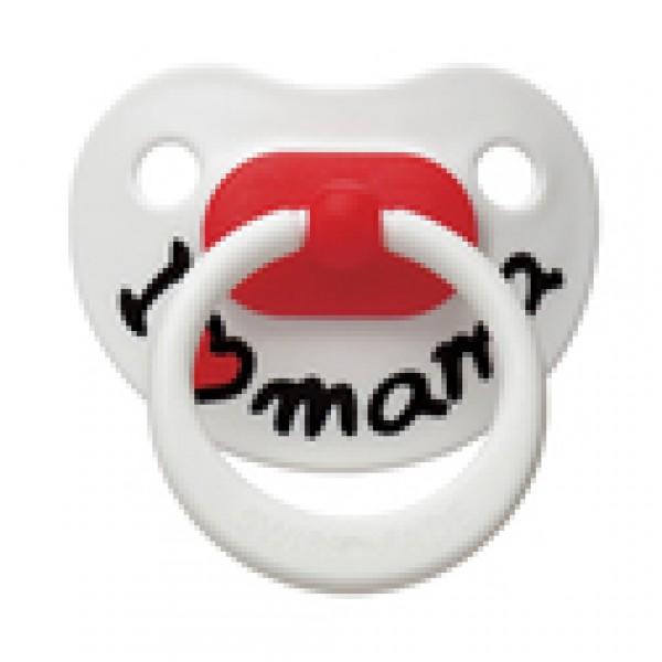 """Пустышка Bibi силиконовая, 12-36 мес. (L) """"I Love Mama"""" 110079, Швеция"""