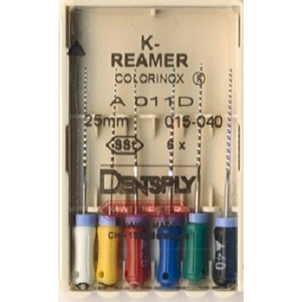 K-Reamer Colorinox, Dentsply Maillefer (К-Ример, Малифер), 25мм, 6 шт/уп