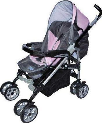 Купить Детская коляска Bambi PUPA серо-розовая L5-1