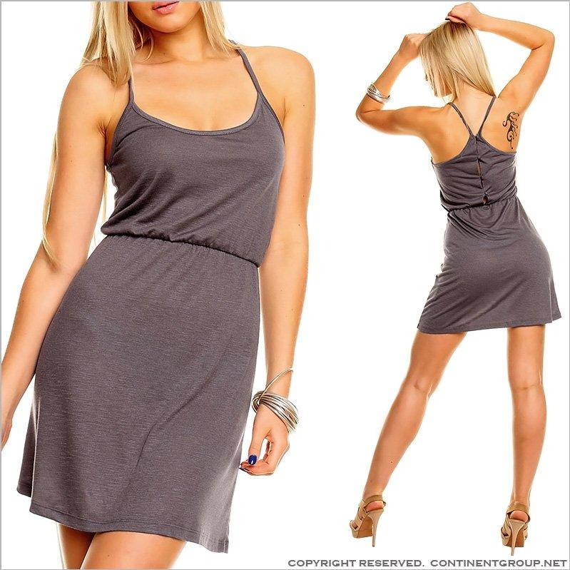 Купить UTCG Серое легкое платье 152593