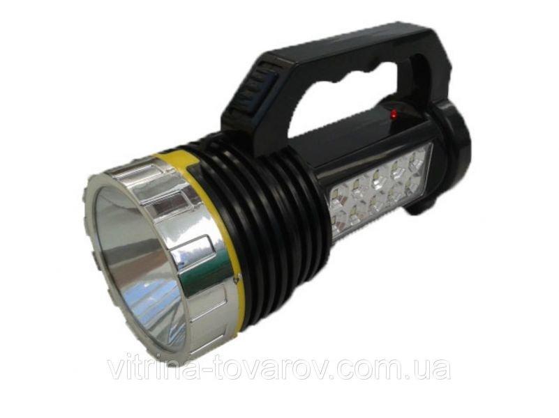 Аккумуляторный фонарь HL-1012 с солнечной батареей и встроенным аккумулятором