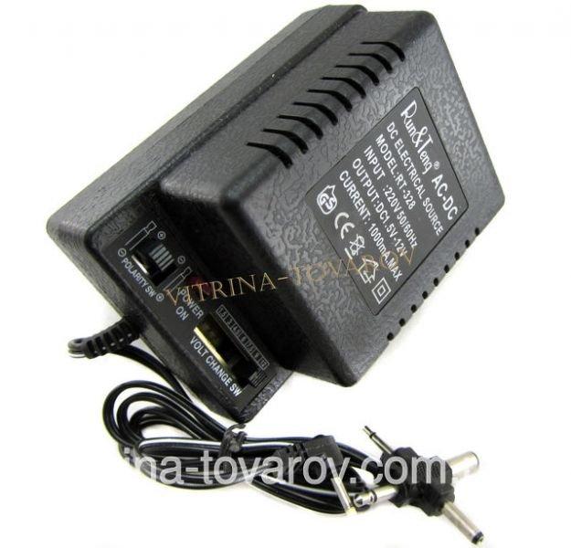 Блок питания 1,5-12v 1000 mA, универсальный адаптер 1,5-12v