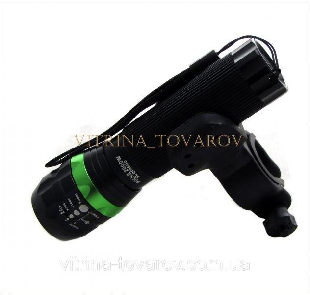 Велофонарь с выносной кнопкой и креплением на оружие BL-8500 Police