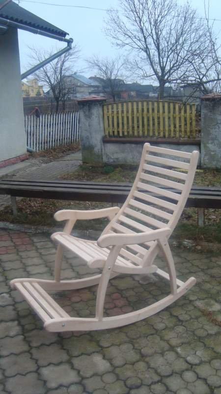 кресло качалка деревянное белое купить в самборе