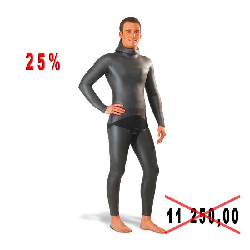 Diving suit for spearfishing of Top Sub, 5 mm, river of III