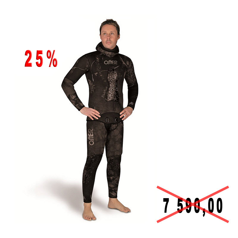 Diving suit for spearfishing of Omer BLACK MOON 5mm, river 7