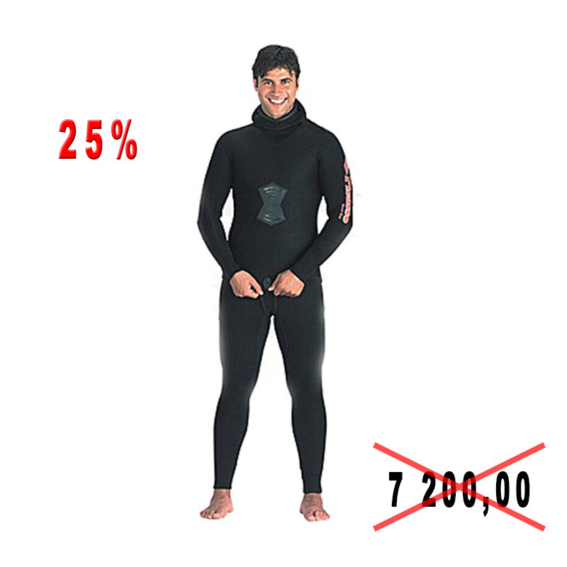 Diving suit for spearfishing of Picasso DARK 7mm of river 48-58
