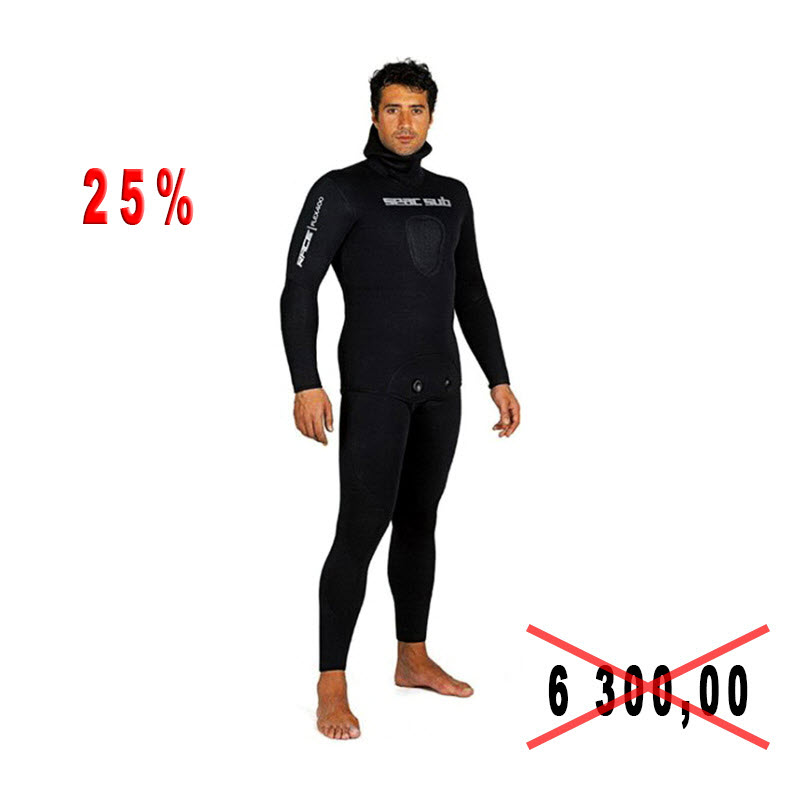 Diving suit for spearfishing of Seac Sub RACE-Flex 400 7mm p. XXL