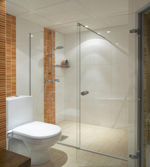Bathroom glass door rubber