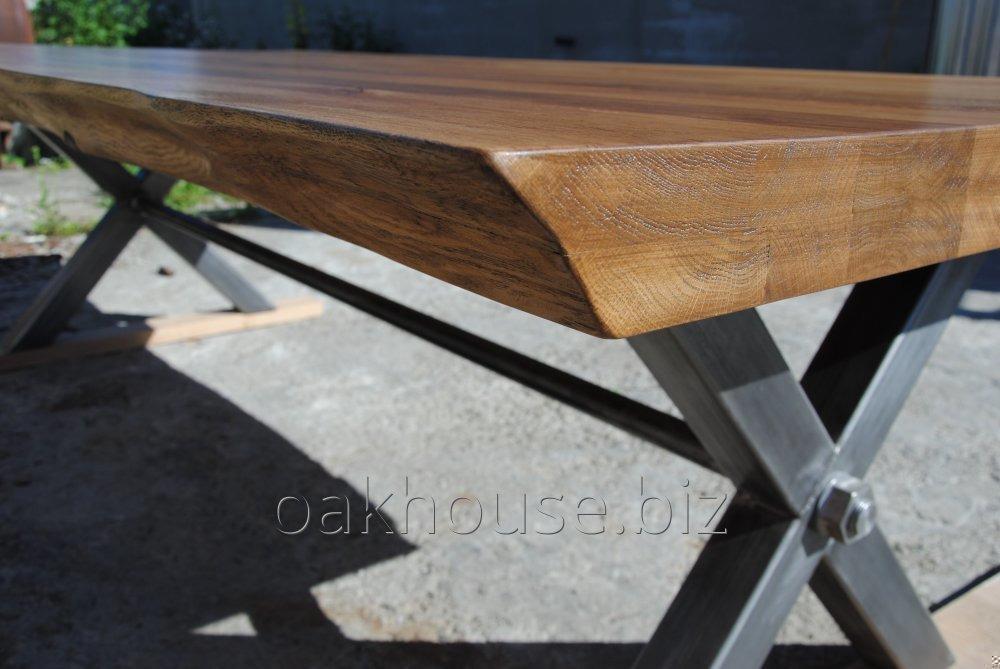 Обеденный стол из натурального дуба