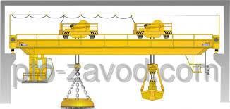 Купить Кран мостовой магнитно-грейферный г/п 5+10 т.
