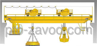 Купить Кран мостовой магнитно-грейферный г/п 16+30 т.