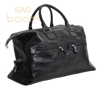 Кожаная дорожная сумка Vip Collection (1604А croco)