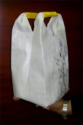 Buy Big run - bags from polypropylene hose fabric