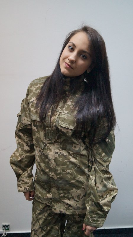 Suit of the Ukrainian Army of new sample pixel camouflage