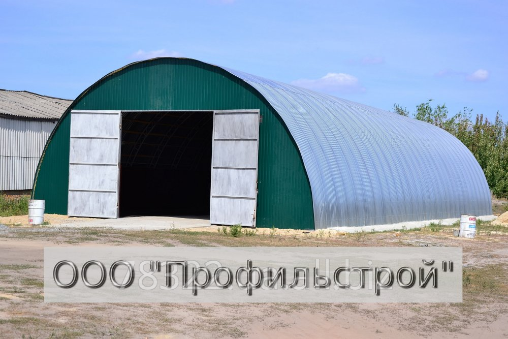 Buy Arch hangars: flight of an arch - from 8 to 24 m, height from 4 to 12 meters