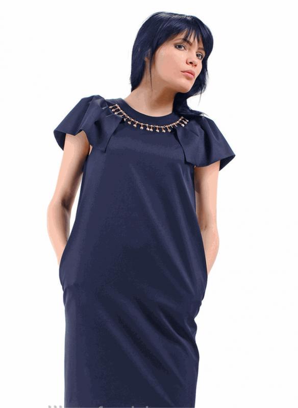Оригинальное женское вечернее платье с рукавами-крылышками (М-20 ... 1e9fde05aaa
