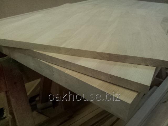 Купить Щит дубовый мебельный широкая ламель