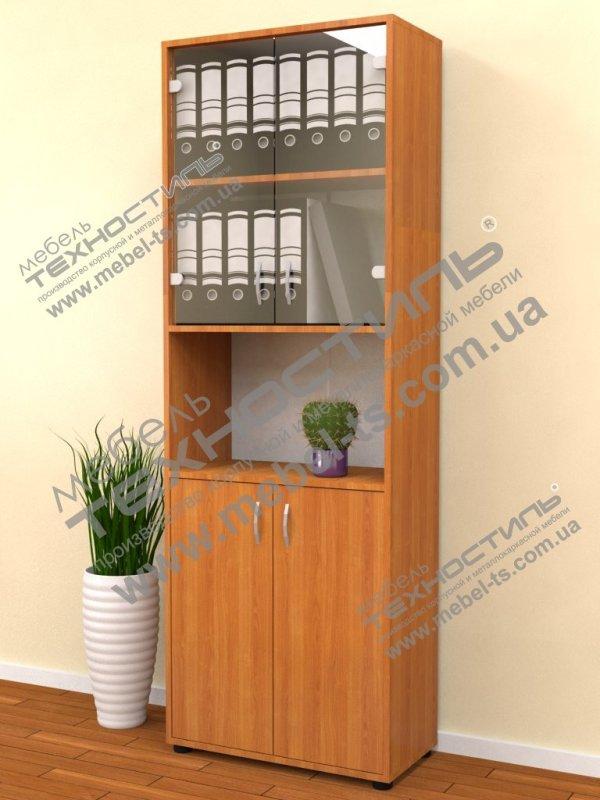 Шкаф офисный со стеклом (Б 164)