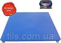 Платформенные весы для взвешивания товара 0.5,1,2,3т размер 1200х1200