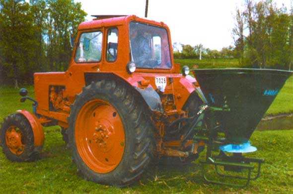 Машина для поверхностного внесения минеральных удобрений МВУ - 0.5  АМ - 01