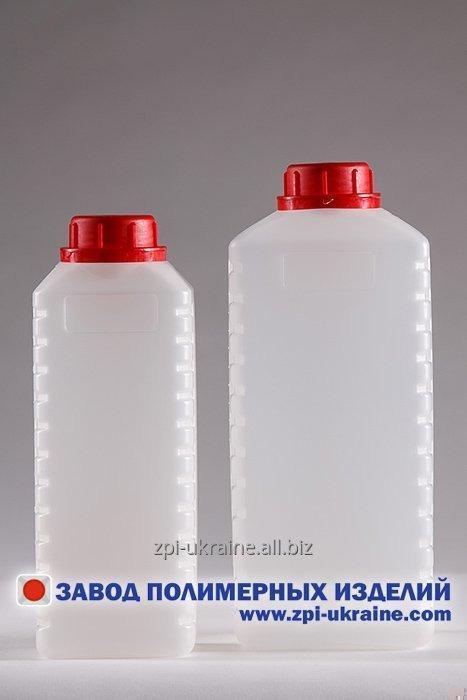 Купить Бутылка прямоугольная K-02 , емкостью 2 литра Полиэтилен