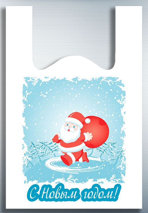 Пакет-майка Дед мороз