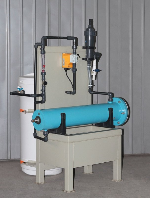Block electrolysis installation of disinfecting of water hypochlorite of Flame-2 sodium with a productivity of 5 kg. active chlorine in days.