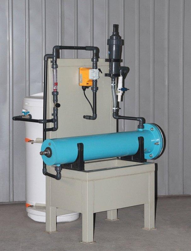 """Блочная электролизная установка обеззараживания воды гипохлоритом натрия """"Пламя-2"""" производительностью 5 кг. активного хлора в сутки."""
