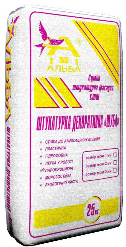 Штукатурка ШУБА (25 кг)
