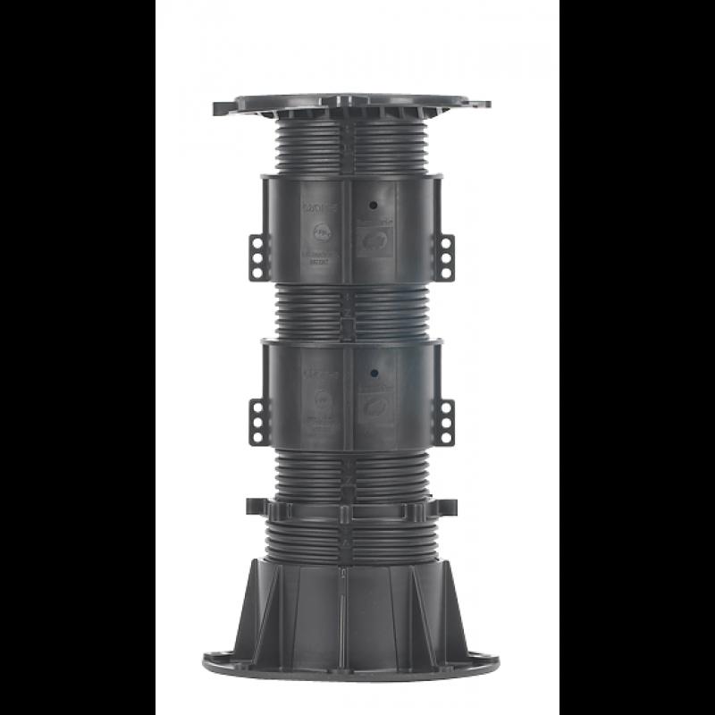 Фальшпол для террас и фонтанов DPH-7 высотой от 285 до 400мм с корректором уклона Buzon Бельгия.