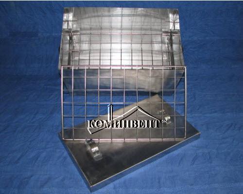 Коптильня прямоугольная переносная из нержавеющей стали. Размеры (ШхГхВ) 455х310х305мм, имеет небольшие габариты, удобна в эксплуатации и занимает достаточно мало места при транспортировке изделия для быта