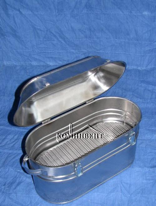 Коптильня овальная переносная изготовлена из нержавеющей стали,Размеры (ШхГхВ) 410х190х300мм, позволяет транспортировать коптильню в закрытом виде используя небольшой рюкзак, изделия для быта