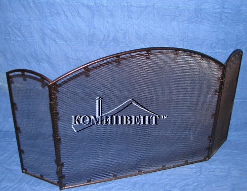 Защитный экран для камина с покраской