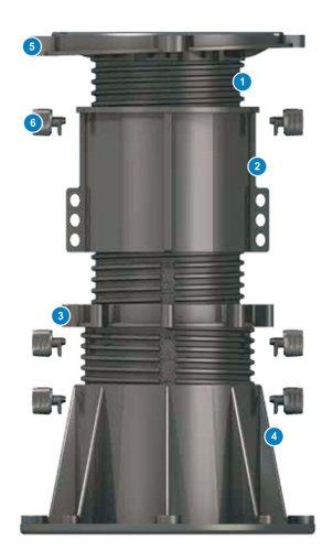 Регулируемая опора подставка для террас и фонтанов DPH-13 Buzon Бельгия